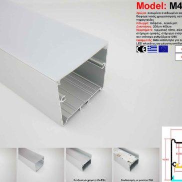 Προφίλ Αλουμινίου δίμετρο για ταινίες LED(M46)