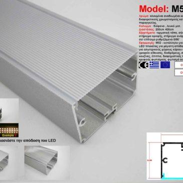 Προφίλ Αλουμινίου δίμετρο για ταινίες LED(M52)
