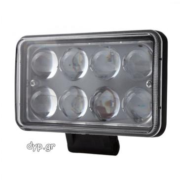 LED προβολέας αυτοκινήτου αδιάβροχος κατευθυντικός 10~30V 8 SMD 24W(D1696)
