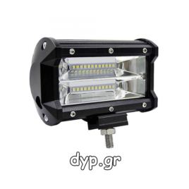 LED αδιάβροχος προβολέας διασποράς μπάρα 24 SMD 24W 10~30V(D2330)