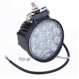 LED προβολέας αυτοκινήτου αδιάβροχος διασποράς 14 SMD 42W 10~30V(D1729)
