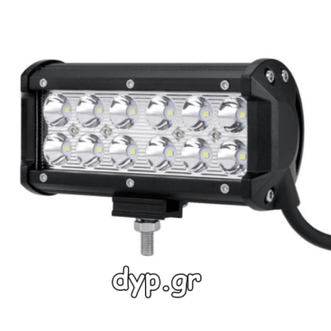 LED αδιάβροχος προβολέας μπάρα κατευθυντικός 12 SMD 36W 10~30V (D1754)