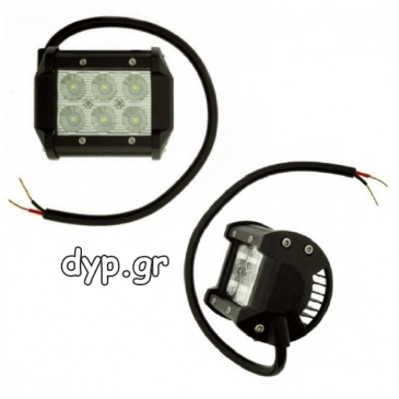 LED προβολέας αυτοκινήτου αδιάβροχος 18W διασποράς 6 SMD wide 10~30V BCA-R3018(D1753)