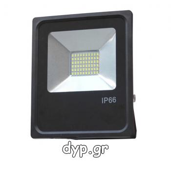 LED Προβολέας 10Watt 220Volt SLIM SMD Πράσινο(FL5426)