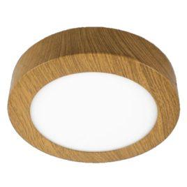 Led panel στρογγυλό εξωτερικό απόχρωση ξύλου  20W 230V 120° Θερμό Λευκό(LPL-00222)