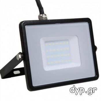 LED Προβολέας SAMSUNG CHIP SMD 30W Σώμα Μαύρο Φως Ημέρας(0401)