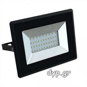 LED Προβολέας E-Series SMD 30W Μαύρος Φως Ημέρας(5953)