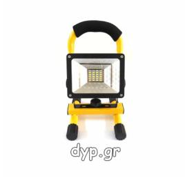 LED Φορητός αδιάβροχος επαναφορτιζόμενος προβολέας 30w 6000K(D1953)