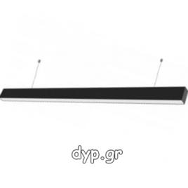 LED Κρεμαστό Γραμμικό Φωτιστικό 40W SAMSUNG Chip Μαύρο Φως Ημέρας(374)