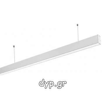 LED Κρεμαστό Γραμμικό Φωτιστικό 40W SAMSUNG Chip Λευκό Φως Ημέρας(376)