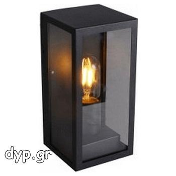 Φωτιστικό Τοίχου V-TAC Τύπου Φαναράκι Μαύρο με Ντουί Ε27(8517)