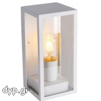 Φωτιστικό Τοίχου Τύπου Φαναράκι Λευκό με Ντουί Ε27(8518)