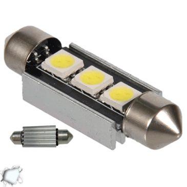 Σωληνωτός LED 39mm Can Bus με 3 SMD Ψυχρό Λευκό GloboStar 47440