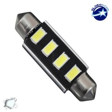 Σωληνωτός LED 42mm Can Bus με 4 SMD 5630 Ψυχρό Λευκό GloboStar 40164