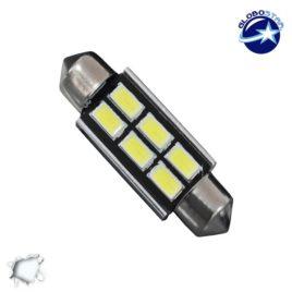 Σωληνωτός LED 39mm Can Bus με 6 SMD 5630 Ψυχρό Λευκό GloboStar 40159
