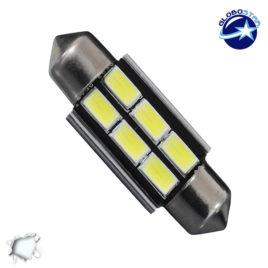 Σωληνωτός LED 36mm Can Bus με 6 SMD 5630 Ψυχρό Λευκό GloboStar 40156