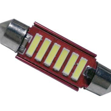 Σωληνωτός LED 39mm 12v Can Bus με 6 SMD 7020 6000k GloboStar 55872
