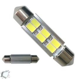 Σωληνωτός LED 42mm Can Bus 6 SMD 5630 10-30 Volt Ψυχρό Λευκό GloboStar 77357
