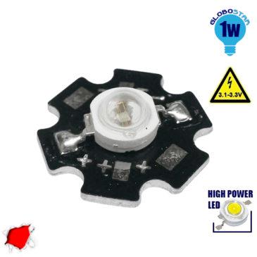 Υψηλής Ισχύος Star LED High Power 1W 2.1V Κόκκινο GloboStar 47041