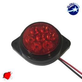 LED Πλευρικά Φώτα Όγκου Φορτηγών BULLET IP66 7 SMD 24 Volt Κόκκινο GloboStar 75486