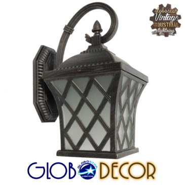 Vintage Φωτιστικό Τοίχου Απλίκα Μονόφωτο Σκούρο Καφέ Μεταλλικό Πλέγμα GloboStar LELIA 01251