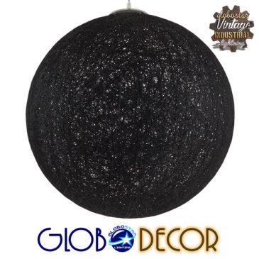 Vintage Κρεμαστό Φωτιστικό Οροφής Μονόφωτο Μαύρο Ξύλινο Ψάθινο Rattan Φ60 GloboStar TERELL 01364
