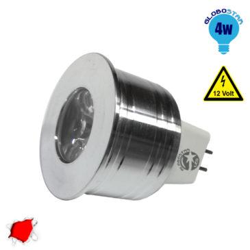 Σποτάκι LED MR11 4 Watt 10-30 Volt Κόκκινο GloboStar 88961