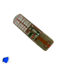 Λαμπτήρας T10 24 SMD Σιλικόνης Μπλε Strobe GloboStar 08342