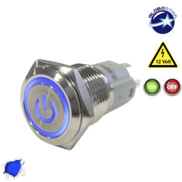Διακοπτάκι LED ON/OFF 12 Volt DC Μπλε GloboStar 05059