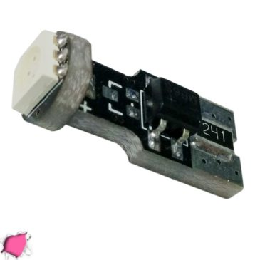 Λαμπτήρας LED T10 Can Bus με 1 SMD 5050 Φούξια GloboStar 11151