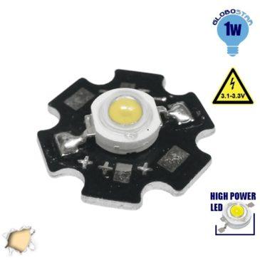Υψηλής Ισχύος Star LED High Power 1W 3.2V Θερμό Λευκό 3000k GloboStar 47040