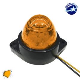 LED Πλευρικά Φώτα Όγκου Φορτηγών BULLET IP66 6 SMD 24 Volt Πορτοκαλί GloboStar 75484