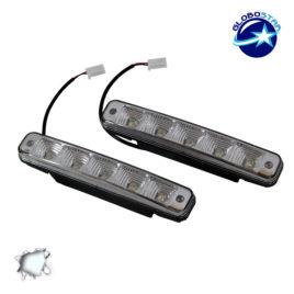 ΣΕΤ DRL Φώτα ημέρας Αυτοκινήτου 20 Watt 12 Volt DC Ψυχρό Λευκό 6000k GloboStar 43050
