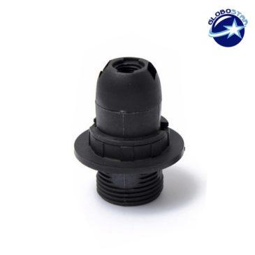 ΣΕΤ Ντουί E14 με Ροδέλα Πλαστικό Μάυρο DIY GloboStar 90072
