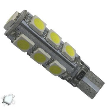 Λαμπτήρας LED T10 Can Bus με 13 SMD 5050 Ψυχρό Λευκό GloboStar 21540