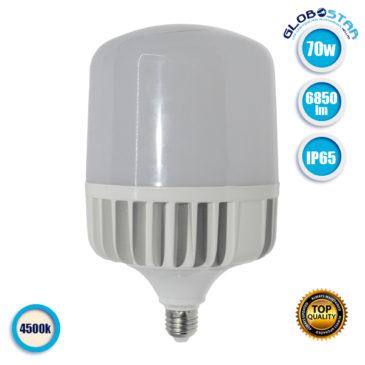 Λάμπα LED E27 High Bay 70W 230V 6850lm 260° Αδιάβροχη IP54 Φυσικό Λευκό 4500k GloboStar 78008