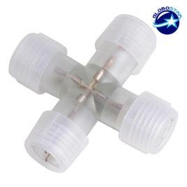 Σταυρός + Connector IP68 για Φωτοσωλήνα LED GloboStar 22638