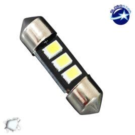 Σωληνωτός LED 36mm με 3 SMD 5630 Samsung Chip Λευκό 6000k GloboStar 40147