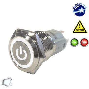 Διακοπτάκι LED ON/OFF 12 Volt DC Ψυχρό Λευκό GloboStar 05057