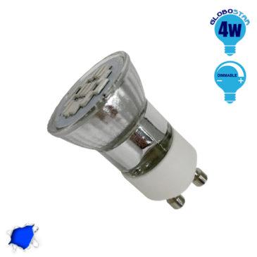LED Spot GU10 M35 4W 230v Μπλε Dimmable GloboStar 90605