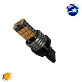 Λαμπτήρας LED T20 7440 με 45 SMD Can Bus 10-30v 4014 Πορτοκαλί GloboStar 40197