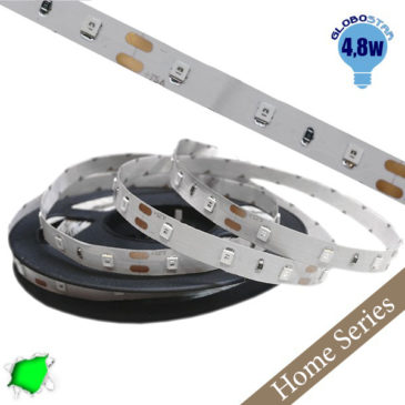 Home Series Ταινία LED 4.8 Watt 12 Volt Πράσινο IP20 GloboStar 33405