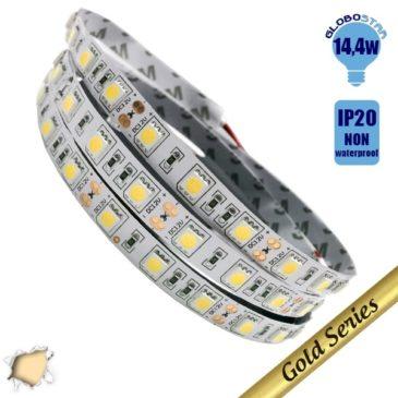 Ταινία LED 14.4 Watt 12 Volt Θερμό Λευκό IP20 GloboStar 47630