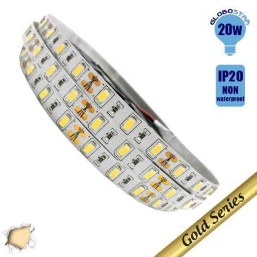 Ταινία LED 20 Watt 12 Volt Θερμό Λευκό IP20 Υπερυψηλής GloboStar 18250