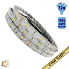 Ταινία LED 7.2 Watt 12 Volt Θερμό Λευκό IP65 Αδιάβροχη GloboStar 95250
