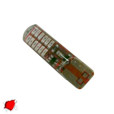 Λαμπτήρας T10 24 SMD Σιλικόνης Κόκκινο Strobe GloboStar 08341