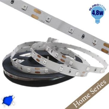Home Series Ταινία LED 4.8 Watt 12 Volt Μπλε IP20 GloboStar 33404