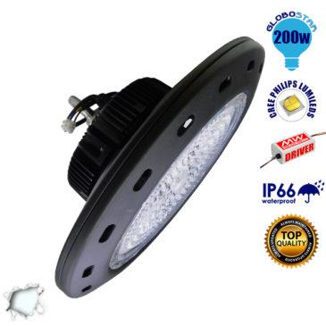 Κρεμαστό Φωτιστικό High Bay Οροφής UFO 200 Watt Ψυχρό Λευκό GloboStar 05500