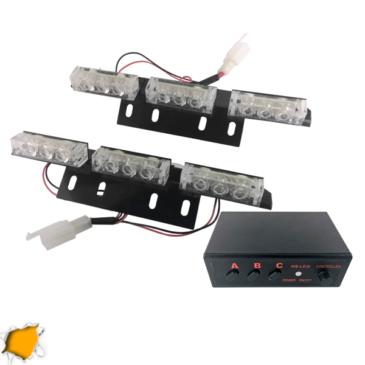 Εξωτερικά Φώτα Οδικής Βοήθειας STROBO LED 2×3 18W 10-30V IP65 Αδιάβροχα Πορτοκαλί GloboStar 88980