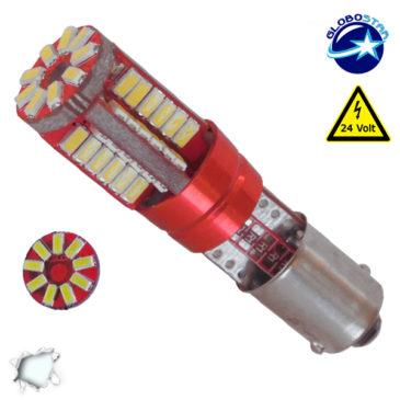 Λαμπτήρας LED BA9S 57 SMD 3014 Can Bus 24 Volt Ψυχρό Λευκό GloboStar 21221